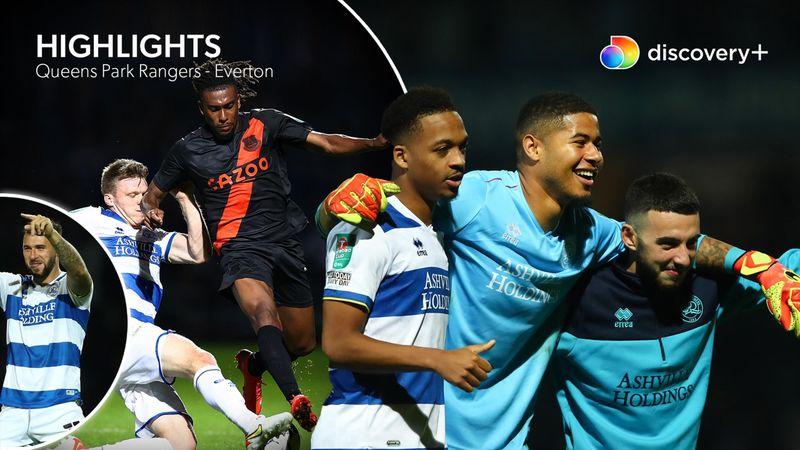 Highlights: Fire mål og et hav af straffespark i QPR's historiske Carabao-sejr over Everton