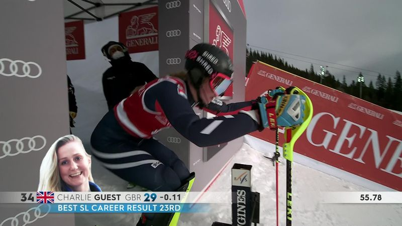Charlie Guest puts down blistering second run for personal best of 16th