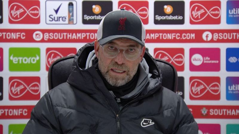 'Our fault, my responsibility' admits Klopp after Liverpool lose to Southampton