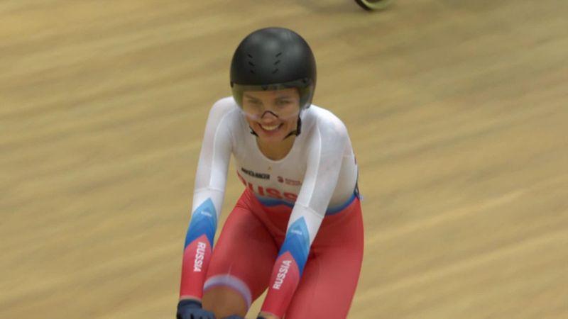 Russia win women's points race final