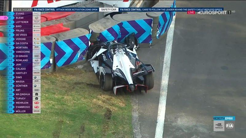Fórmula E, ePrix de México: Nico Müller empotró su coche contra las protecciones