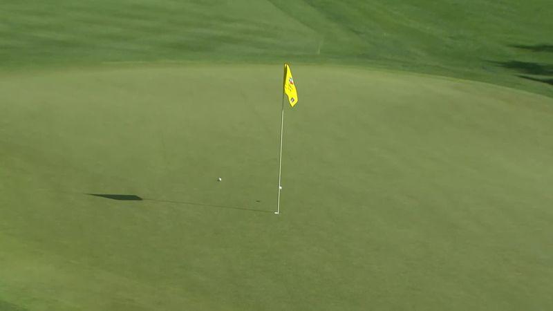 Мяч предательски отскочил от флага после идеального удара в гольфе