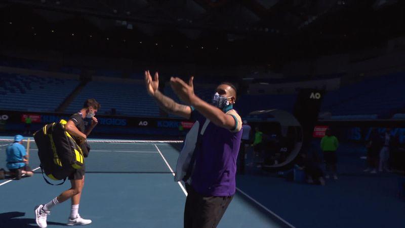 Nächste Stichelei: Kyrgios ahmt Djokovic-Jubel nach