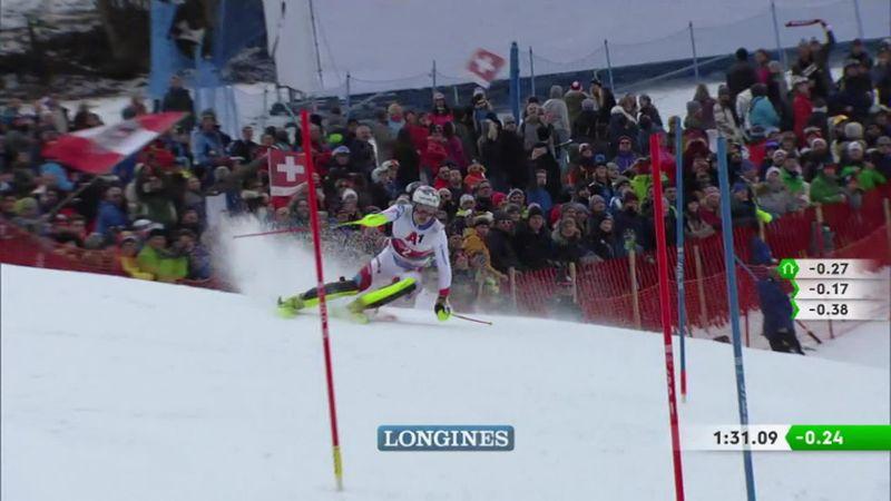 Kitzbühel: men slalom - 2nd run - top 3