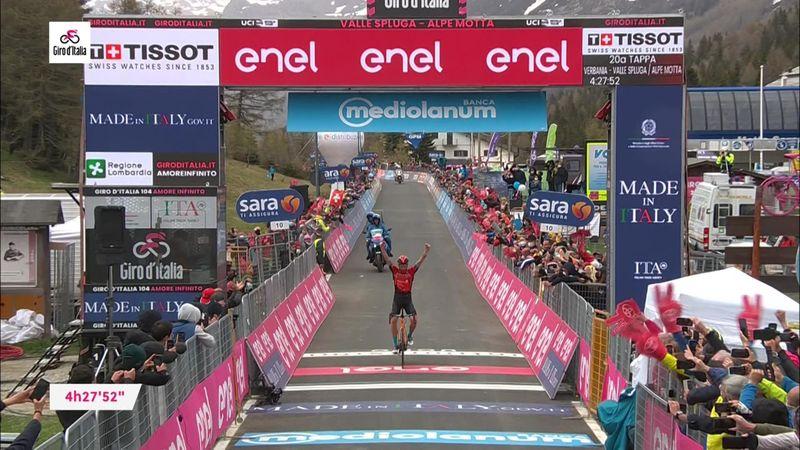 Giro d'Italia| Damiano Caruso wint etappe 20