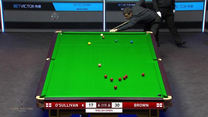 'All sorts happening here!' - O'Sullivan sends balls flying with wayward shot