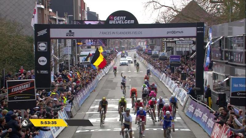 Se Sagans seiersspurt i Gent - Wevelgem