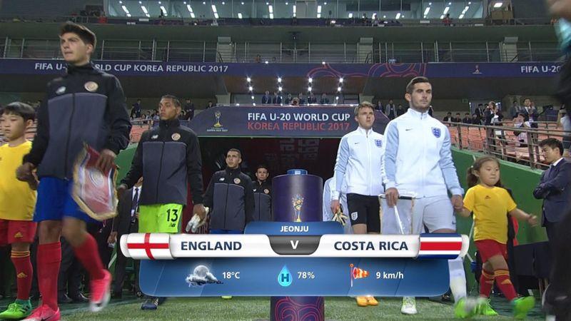 Mondiali Under 20, Inghilterra-Costa Rica 2-1: gli highlights