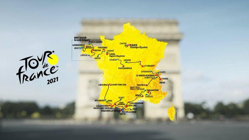 De Brest à Paris : découvrez le tracé du Tour de France 2021