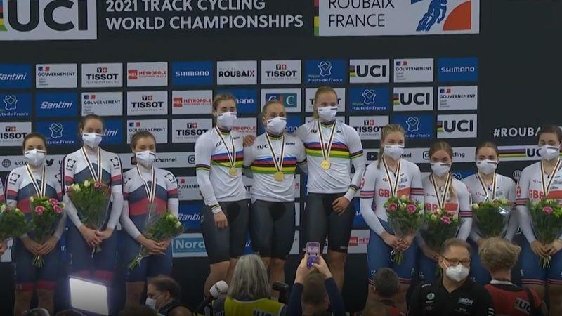 Dreimal Weltrekord, dreimal Gold: Teamsprinterinnen holen sich WM-Medaille ab