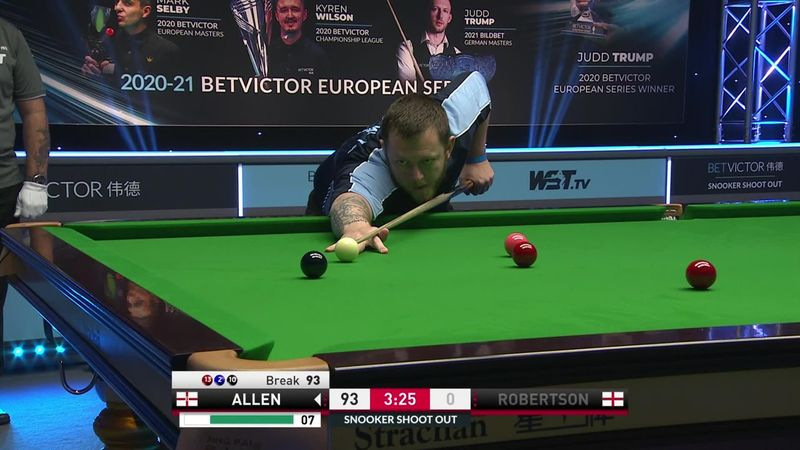 ¡¡142!! Mark Allen logra el break más alto de la historia del Shoot Out
