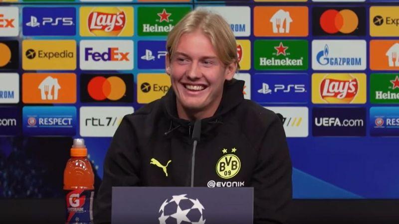 Kopfballungeheuer Brandt? BVB-Star und Rose flachsen auf PK