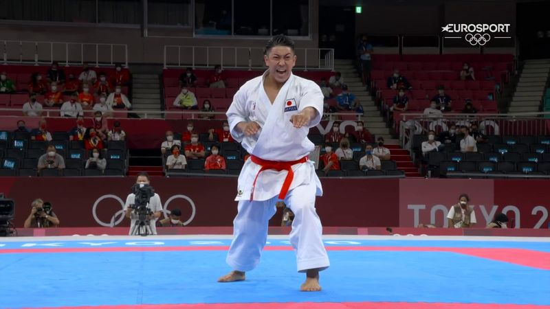'Absolutely brilliant' - Watch Japan's Kiyuna take stunning gold in kata karate