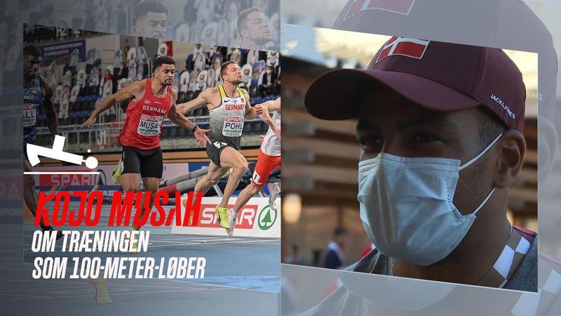 Dansk 100-meter-sprinter om sin eksplosivitet: Hvis jeg løber efter bussen, så springer jeg i luften
