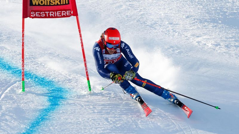 World Cup Alpine | Frederica Brignone wint eerste run in Sestriere