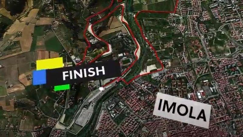 So sieht der WM-Kurs des Zeitfahrens in Imola aus