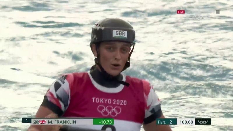 'That was brilliant' - GB's Franklin storms to slalom silver