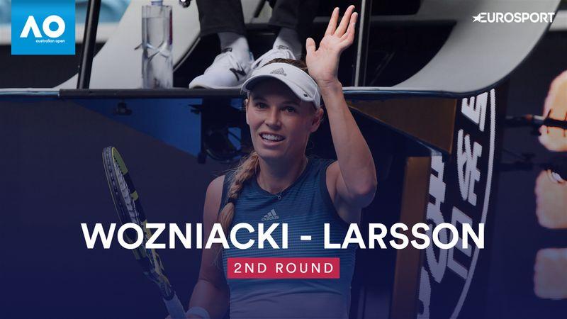 Höjdpunkter : Wozniacki - Larsson