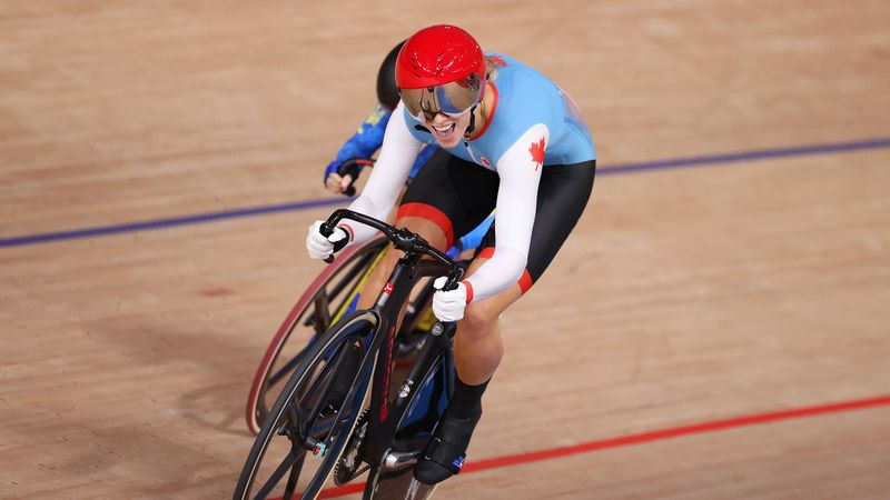 'This time she has no answer!' - Mitchell wins track sprint gold