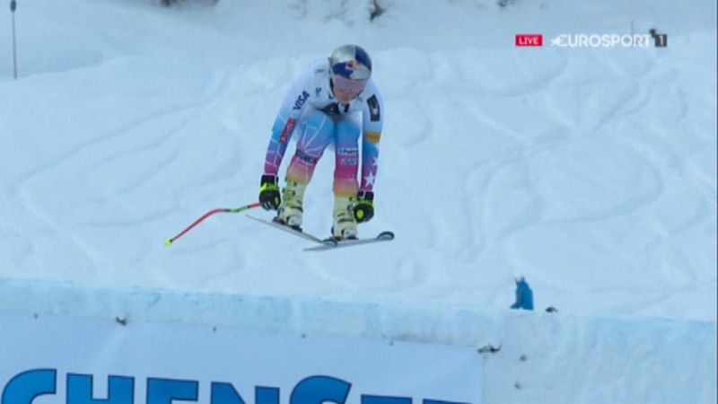 VIDEO: Lindsey Vonn makes comeback from injury