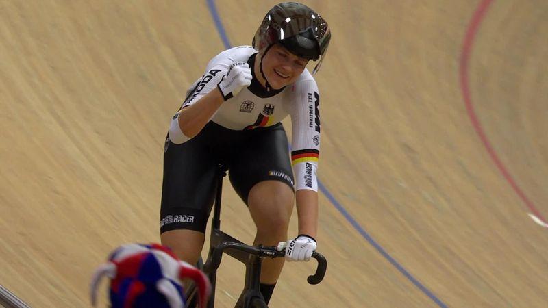 Friedrich rast im Keirin der Frauen zur Goldmedaille