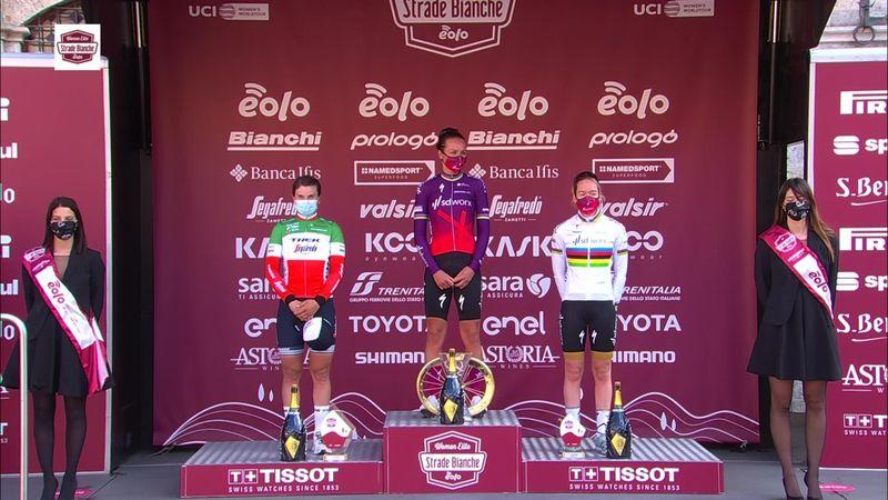 Van den Broek-Blaak takes to podium after Strade Bianche Donne win
