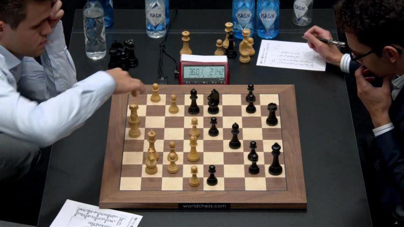 Schaaktweekamp | Highlights 6e WK-partij Carlsen - Caruana