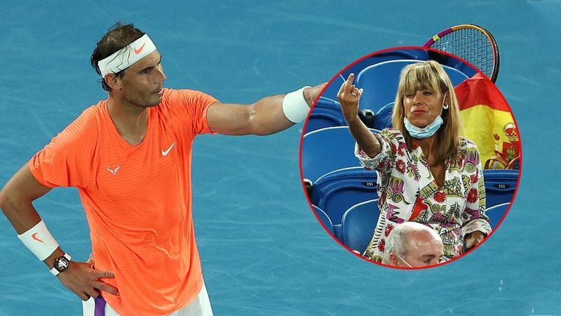 Vild episode: Kvinde fra lægterne giver Nadal fingeren