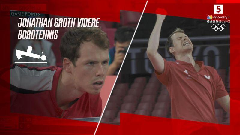 Highlights: Jonathan Groth sendte ungarer hjem efter fem sæt og er videre ved OL