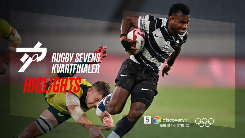 Highlights: Kvartfinalerne i Rugby Sevens