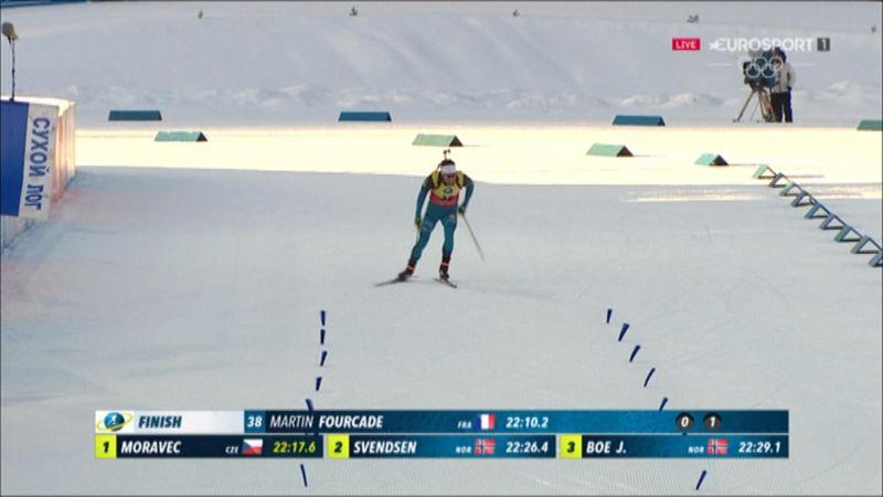 Biathlon Sprint : Fourcade's finishline