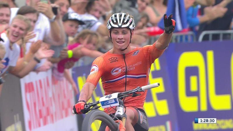 Mathieu van der Poel wins European Mountain Bike Championships