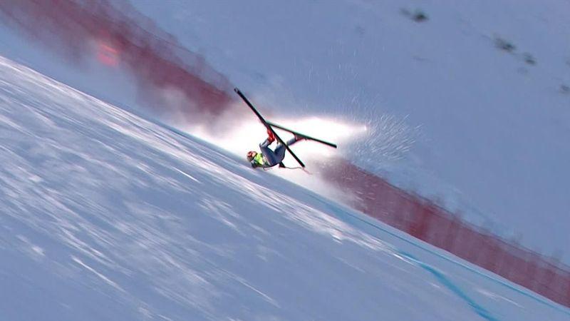 Impactante caída de Sofia Goggia a toda velocidad en su descenso en Bansko