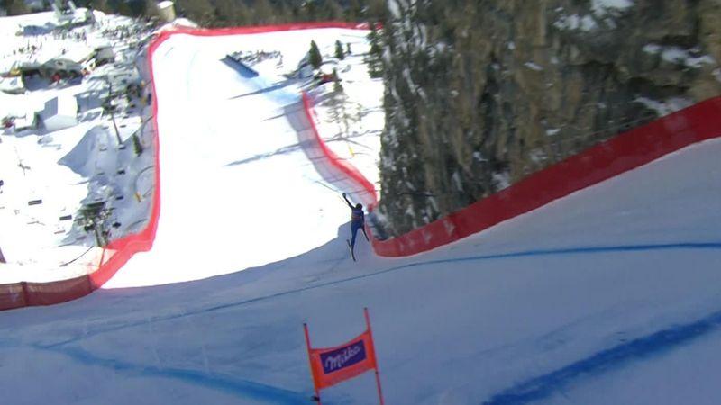 Goggia survives scary crash at Cortina d'Ampezzo downhill