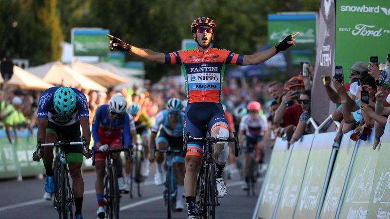 Marco Canola out-kicks Travis McCabe to win Tour of Utah Stage 4