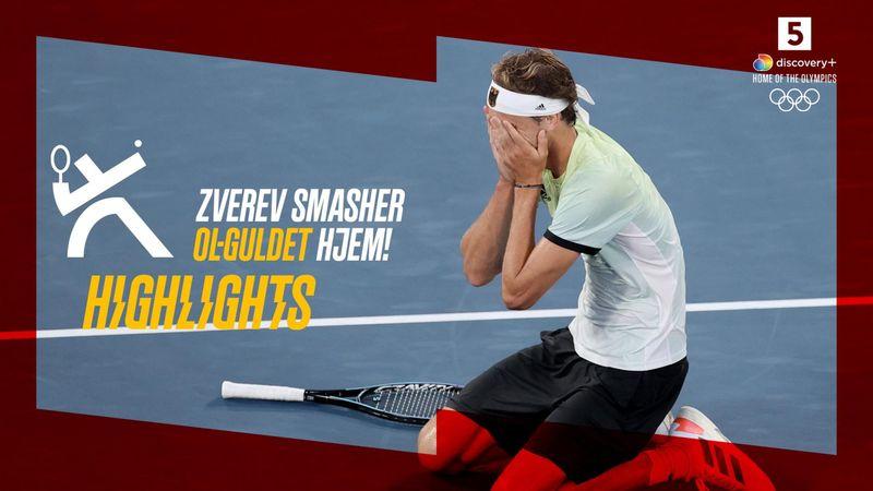 Highlights: Zverev smadrer Khachanov i finalen og tager guldet