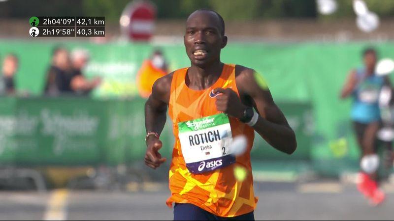Rotich vence en el maratón de París con récord de la prueba
