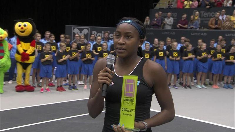 WTA Linz | De eerste reactie van Coco Gauff na haar zege in Oostenrijk