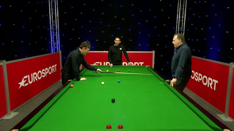 Jimmy White attemps to recreate Mark Selby's incredible positional shot