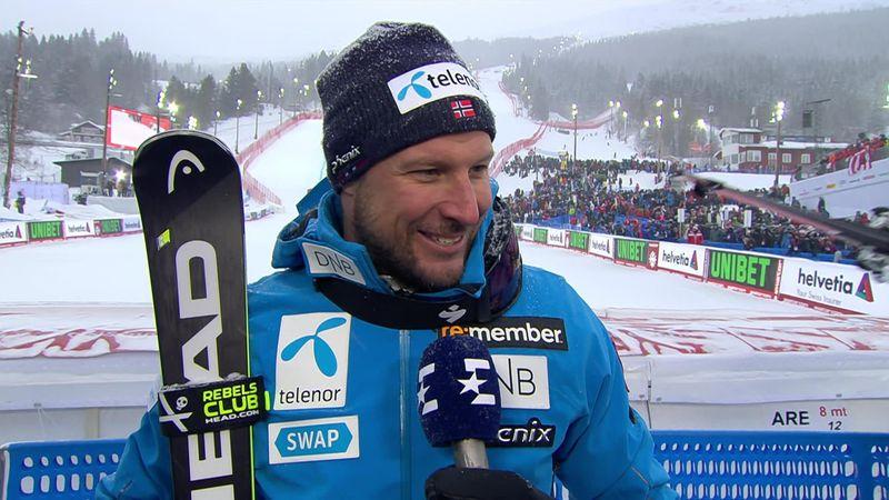 Se intervjuet med Svindal etter VM-sølvet i hans siste renn