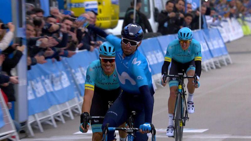 Вальверде вылез из-за спин астанинских парней и затащил финиш второго этапа «Вуэльты Валенсии»