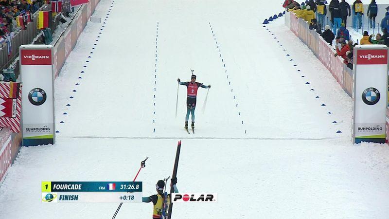 Biatlón, Copa del Mundo: Fourcade se lleva la persecución masculina en Ruhpolding