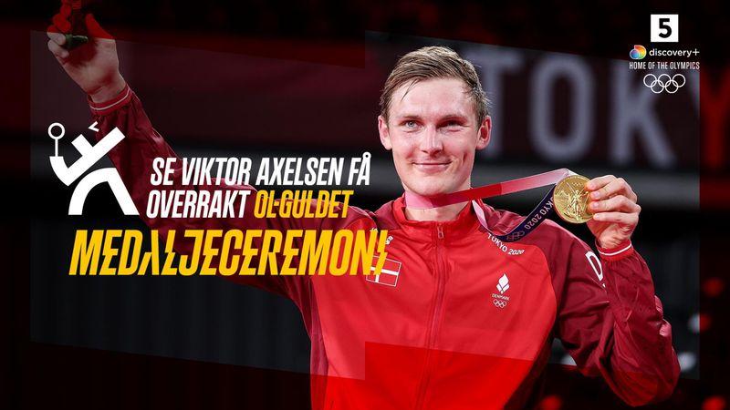Dansk eufori: Se Axelsen få overrakt OL-guldet