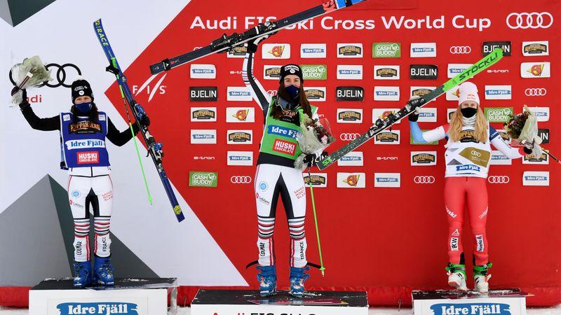 Interview d'Alizée Baron après sa victoire en ski cross