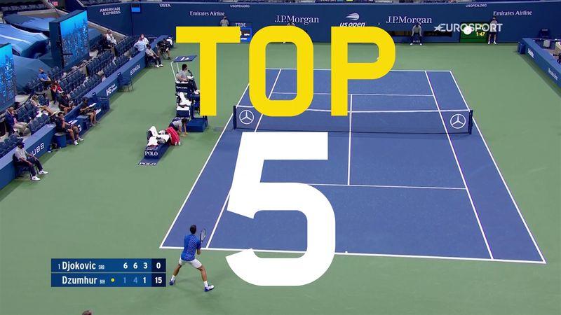 Top 5: De bedste slag fra nattens US Open-kampe