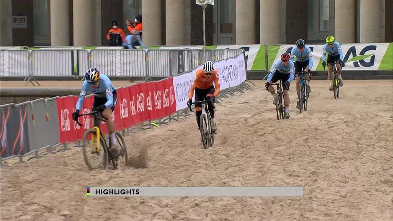 Cyclo-cross: Van der Poel Ostend'de Dünya Şampiyonası'nda birinci oluyor
