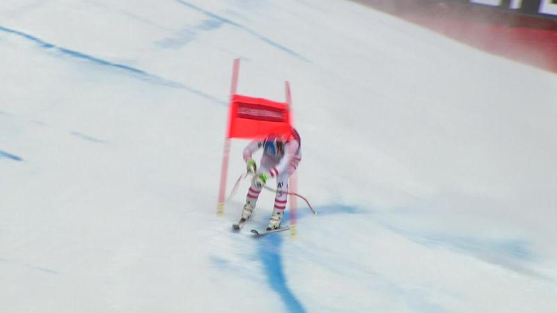 El error de Mayer cruzando una puerta que le privó de luchar por el triunfo en Kvitfjell