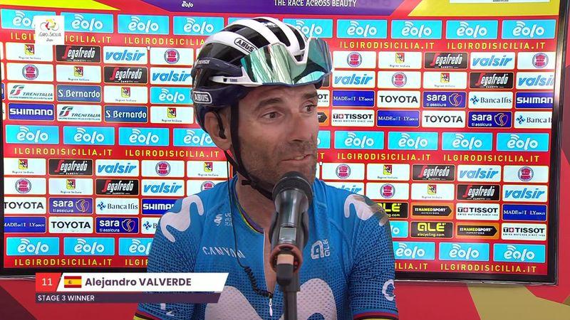 """Valverde, tras su caída: """"Hubiera preferido no ganar y no caerme"""""""
