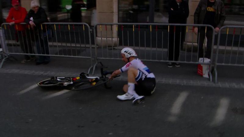 Campenaerts-krasj i Tour de Romandie