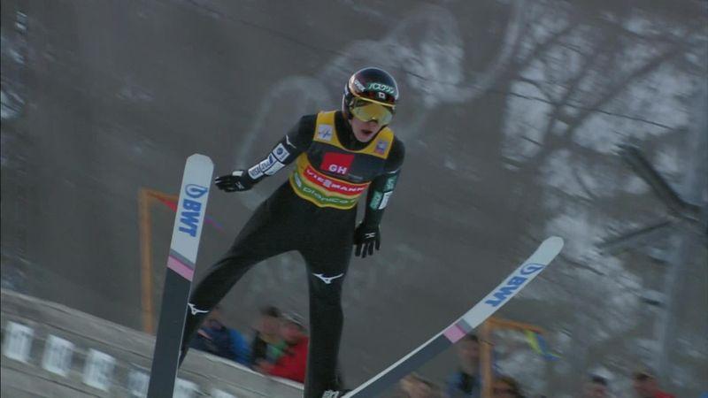 Kobayashi falls short as Eisenbichler secures victory